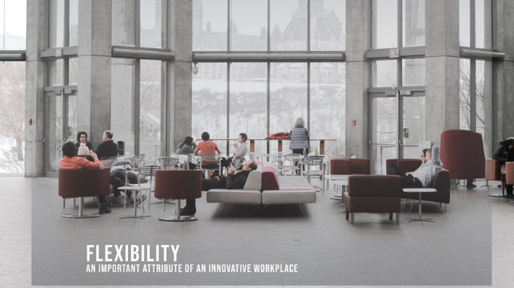 Flexibility – an important attribute of an innovative workplace.